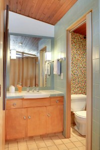 Design a confetti tile bathroom wall using Clayhaus ...