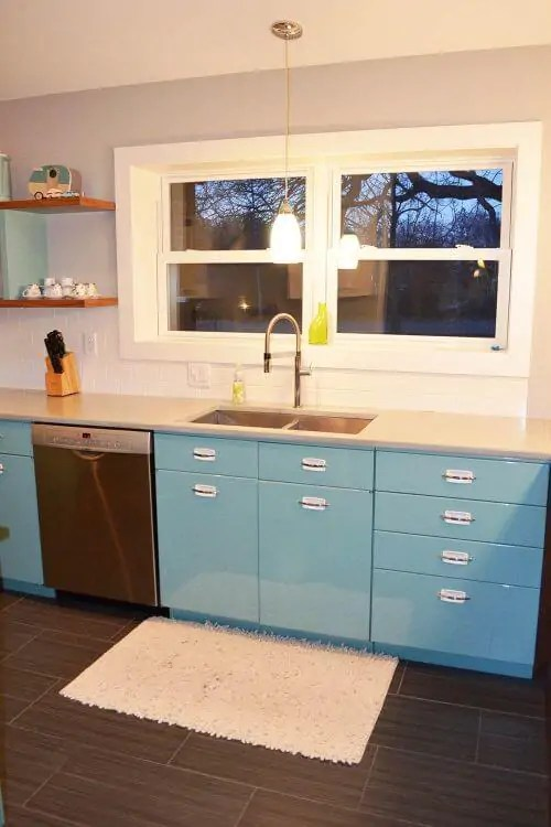 high gloss kitchen cabinets colorful sam has a great experience with powder coating her vintage ...