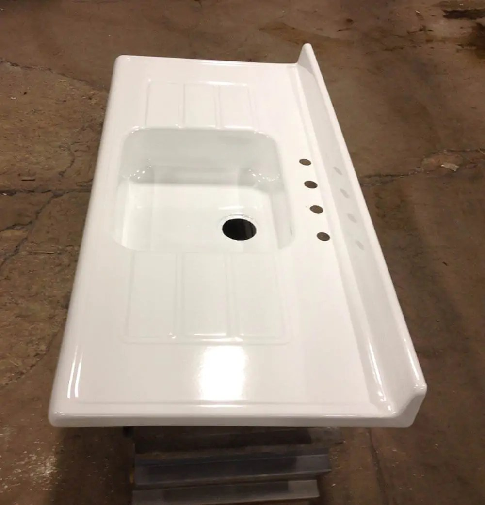 Reporcelain refinish steel sinks stoves and other vintage