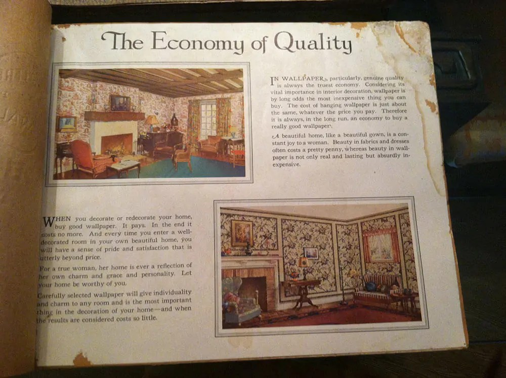 vintage wallpaper books from