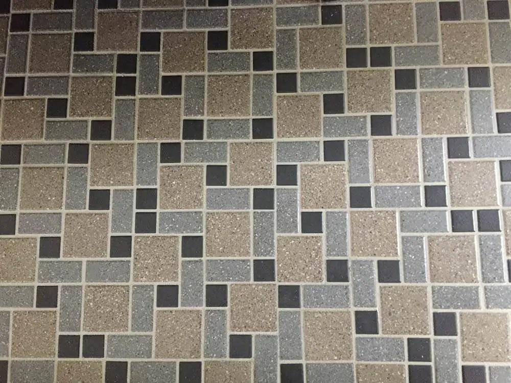 Nicoles DIY Daltile mosaic tile floor  Retro Renovation