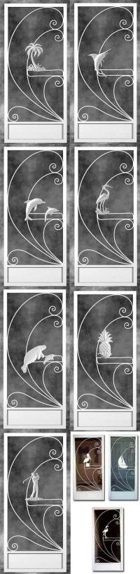 2 manufacturers - 18 styles - Screen door inserts with ...