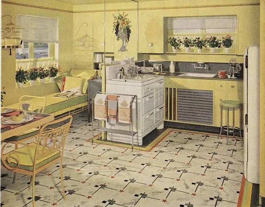 21 early 1940s interior designs by Hazel Del Brown of