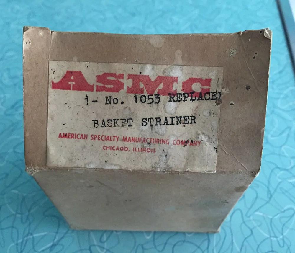 vintage kitchen sink basket strainer