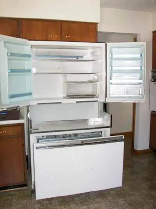 retro kitchen appliances for sale cupboards the 1964 ge americana refrigerator-freezer - renovation