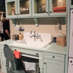 Kitchen Sinks With Drainboards Vintage Accessories Checking Out The Nelson's Sink On Display At Kbis - Retro ...