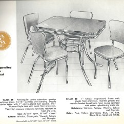 Kitchen Table And Chair Invacare Recliner Geri Still In Production After Nearly 70 Years Acme Chrome Dinettes Made From 1949 To 1959