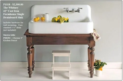 Small Farmhouse Sink 42 Cast Iron New From Strom