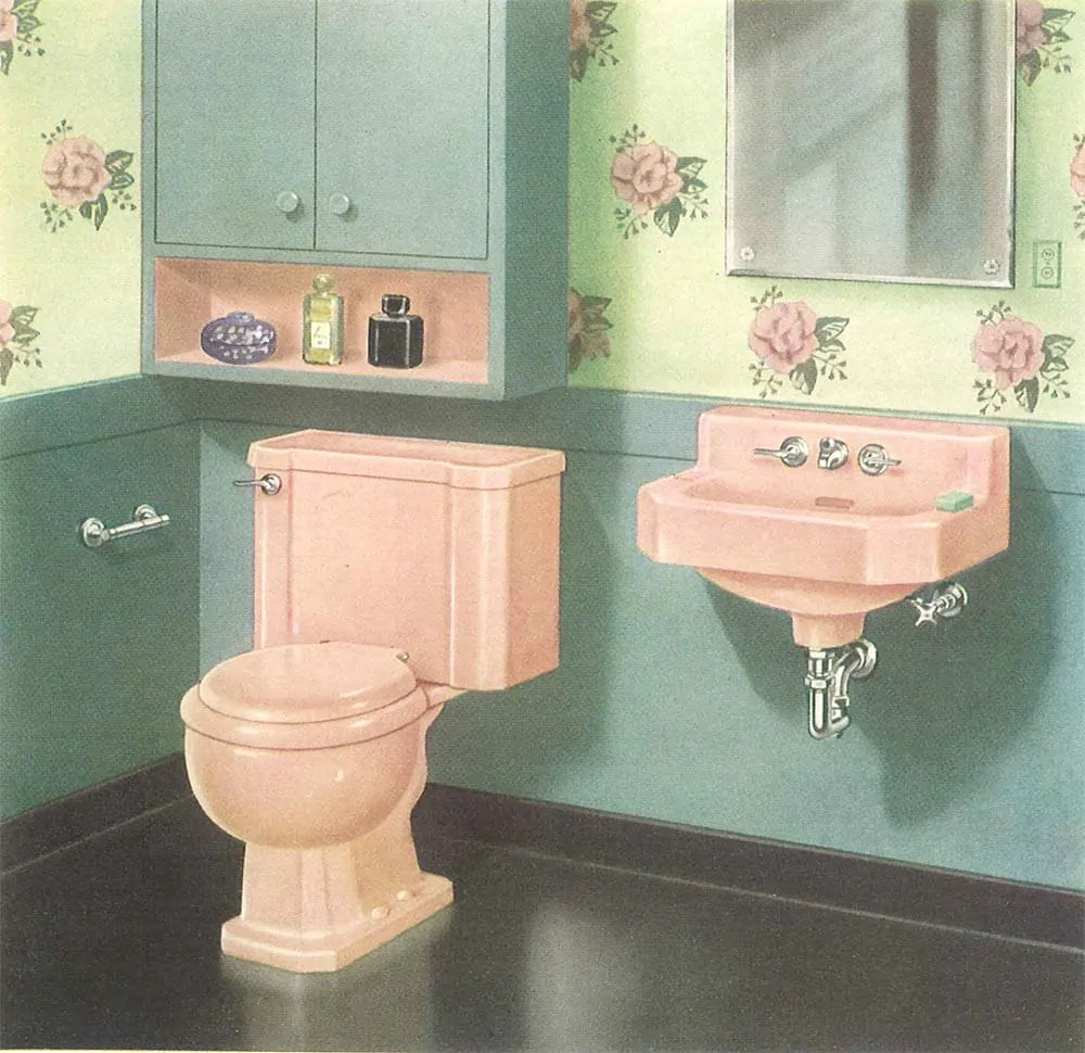 The Pink Bathrooms Of Mid Century