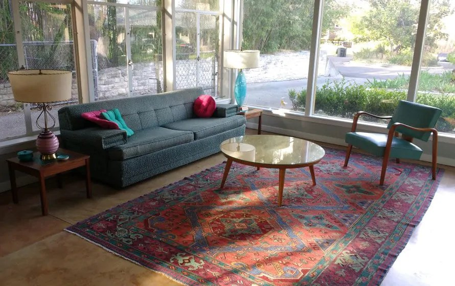 modern living room with persian rug show pictures of rooms oriental rugs in midcentury me likey retro renovation