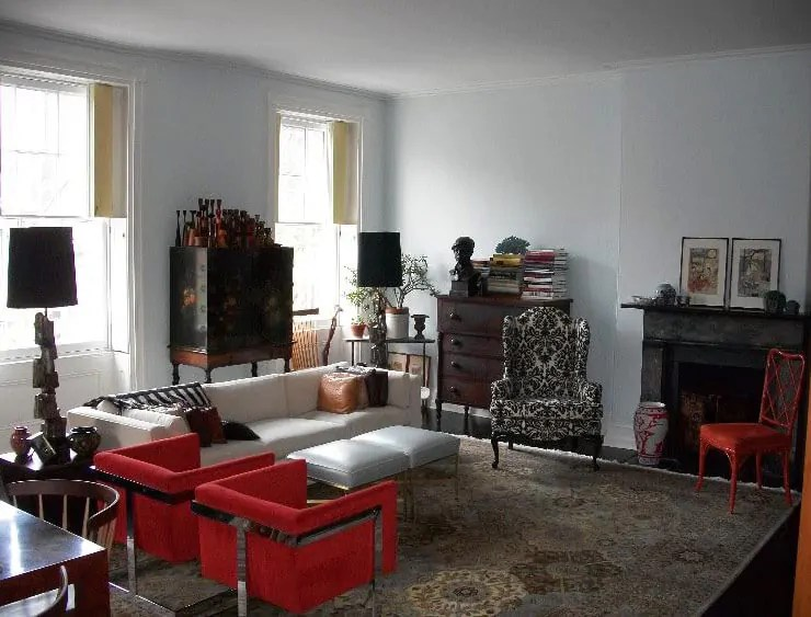 Oriental rugs in midcentury living rooms Me likey  Retro Renovation