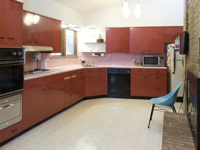 repainting kitchen cabinets aid gas range one ingenious couple + two sets of vintage st. charles ...