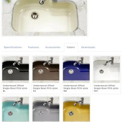 Colored Kitchen Sinks Bar Height Table Sets Porcelain Enamel In 3 Styles 8 Colors Including Aqua