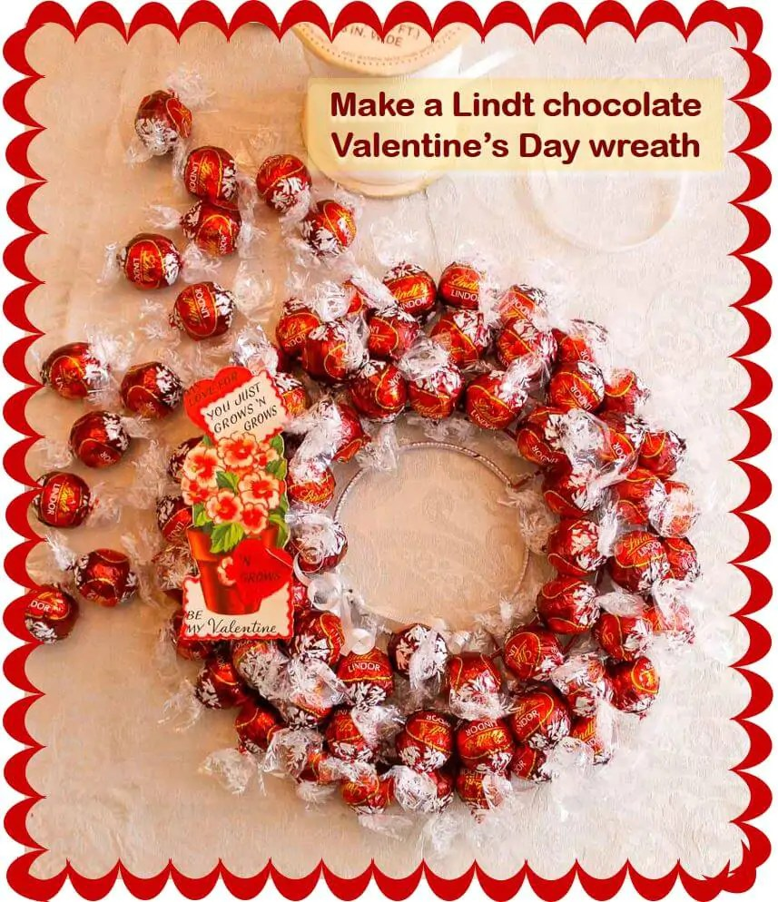 Make A Lindt Chocolate Truffles Wreath For Valentines Day