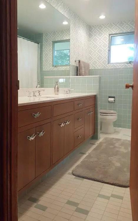15 midcentury modern and retro style bathroom vanities - built new
