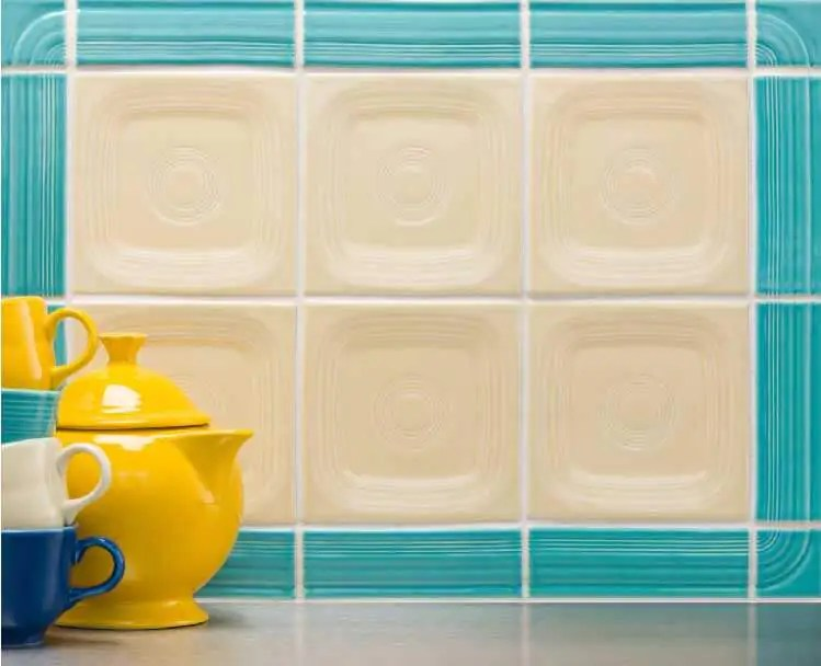 retro kitchen tile backsplash cabinet door bumper pads fiestaware is now available for pre-order - 4 designs ...