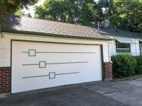 A midcentury modern garage door - made new for Nanette ...