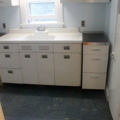Kitchen Cabinet Paint Colors Cabinets Houston Two 1948 Kitchens In Mary And Duane's Time Capsule House ...