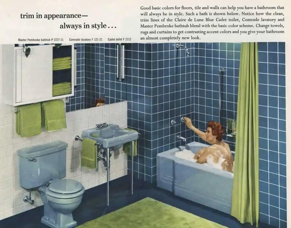 12 vintage bathroom sinks from American Standard in 1955