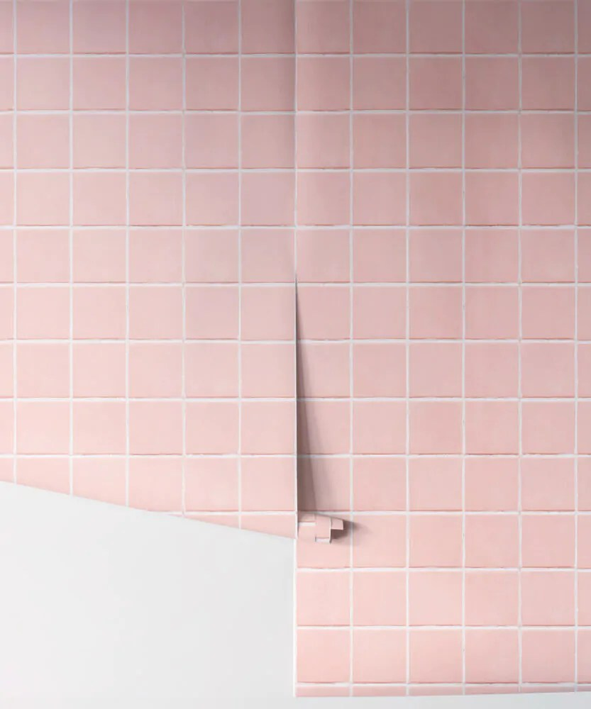 is this pink bathroom tile or a