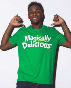This is the main model photo for the St Patricks Day Shirts: Magically Delicious