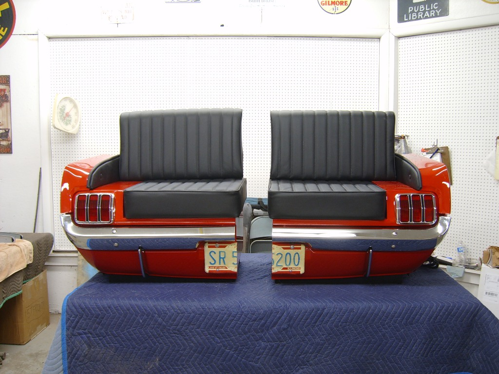 cars sofa chair small sectional sleeper chaise retro automotive car couches chairs desks