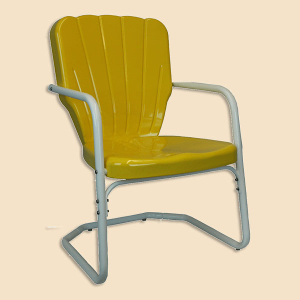 antique lawn chairs big and tall hunting retro 1950s metal 102 00