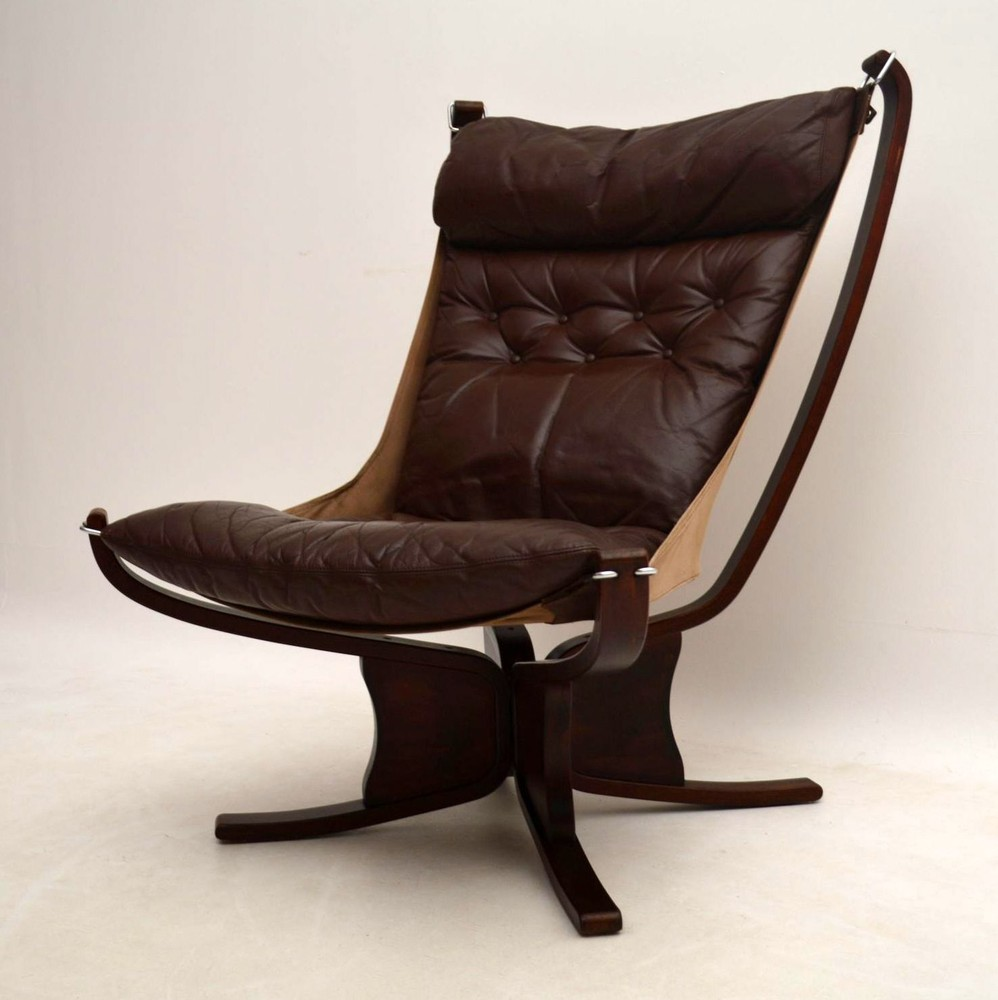 Falcon Chair Retro Leather Falcon Chair By Sigurd Ressel Vintage 1960 S