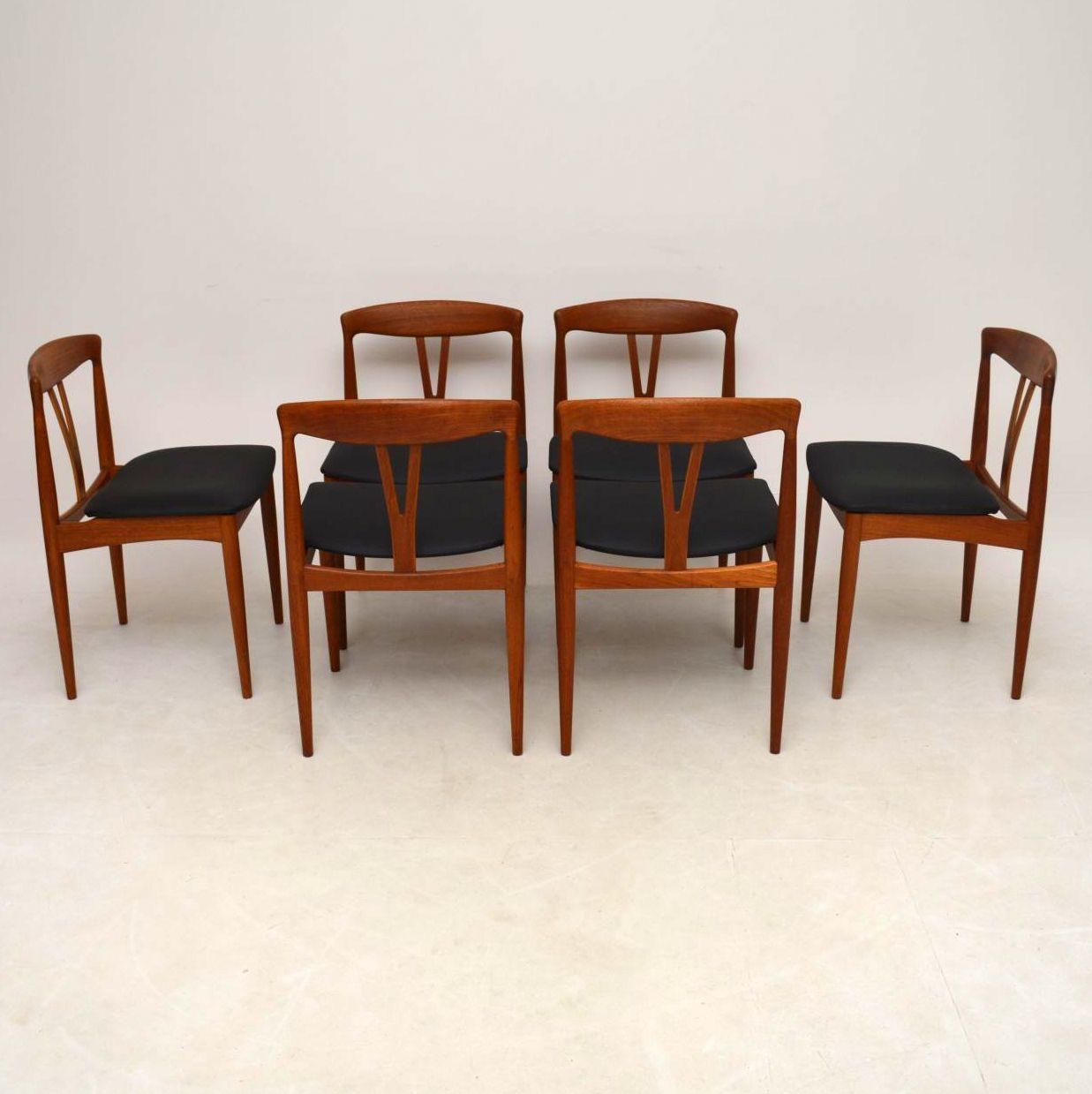 Retro Dining Chair Set Of 6 Danish Teak Retro Dining Chairs Vintage 1960s