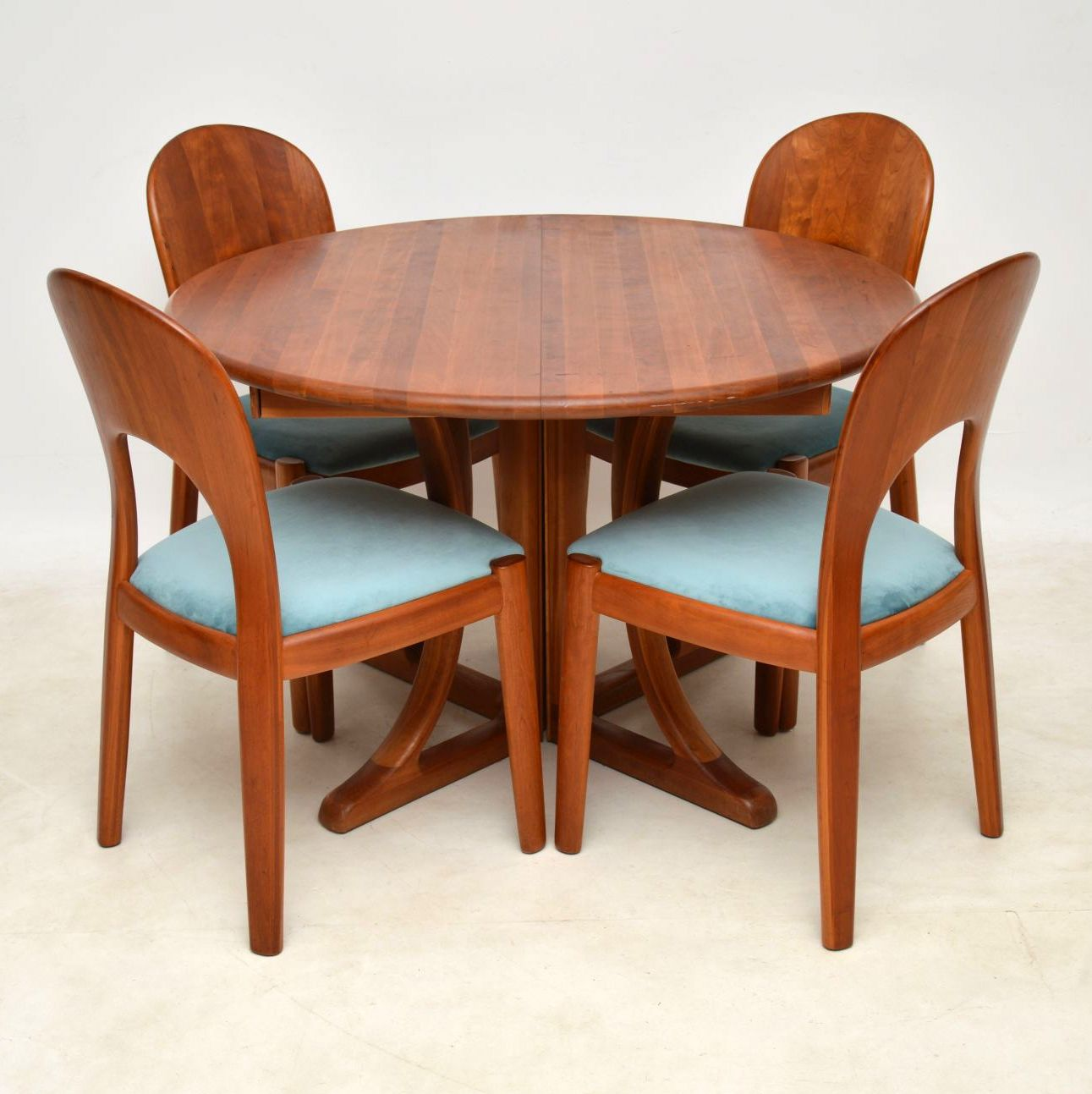 Teak Dining Room Chairs 1960 S Danish Teak Dining Table Chairs By Niels Koefoed