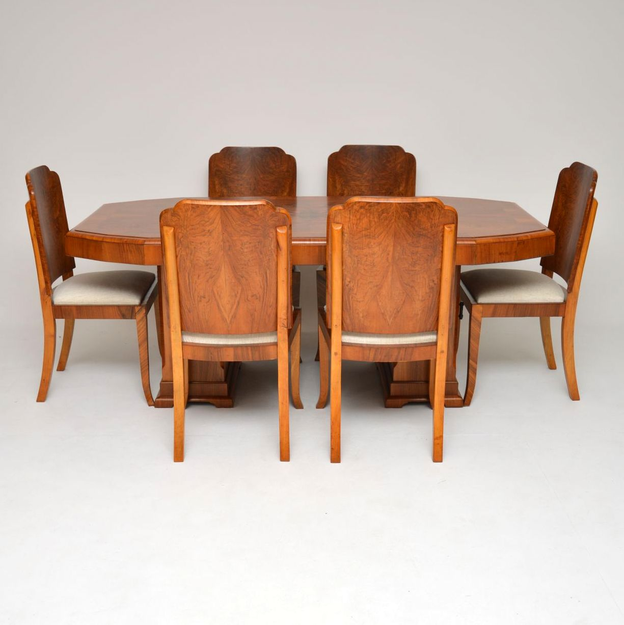 Art Deco Dining Chairs 1920 S Original Art Deco Walnut Dining Table Chairs