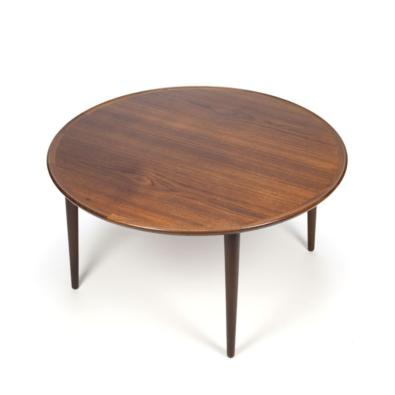 Vintage Round Danish Teak Coffee Table  Retro Studio