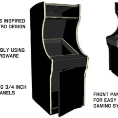3 In One High Chair Plans With Adjustable Height Retro Thing Kickstart A 4 Scale Arcade Machine Project The Design Looks Absolutely Beautiful And Archie Just Rolled Out An Affordable Kickstarter For Anyone Interested Getting Their Hands On