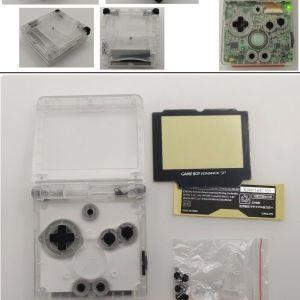 Kit Carcasa Nintendo SP transparente
