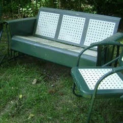 Old Fashioned Metal Lawn Chairs Folding Chair Step Ladder Glider Care And Maintenance - Vintage Gliders,old ...
