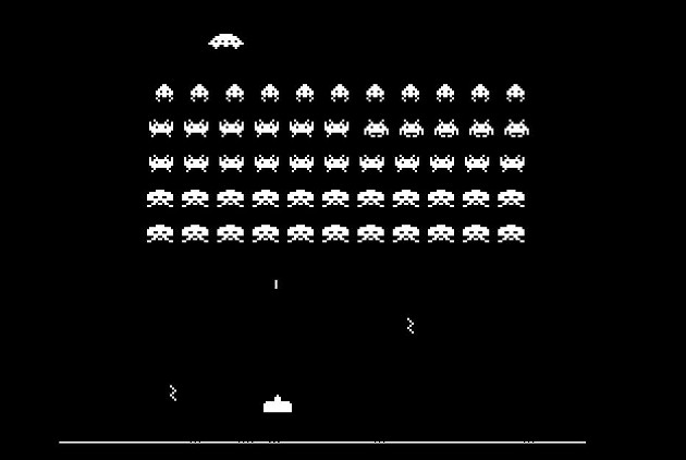 Space Invaders shot
