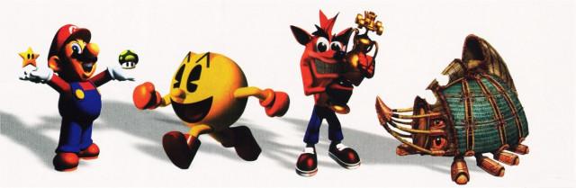 Mario, Pac-Man, Crash Bandicoot