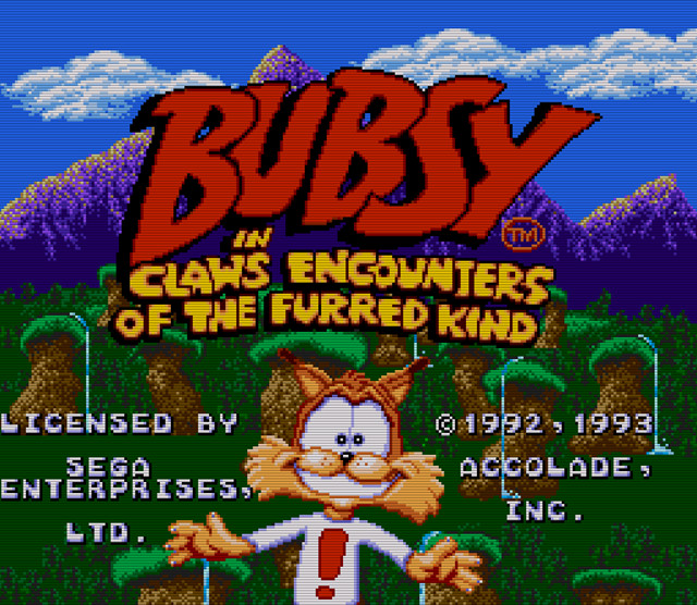 Bubsy Title Screen