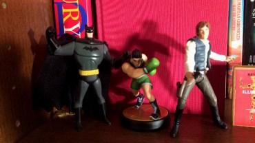 Batman, Little Mac, and Han Solo