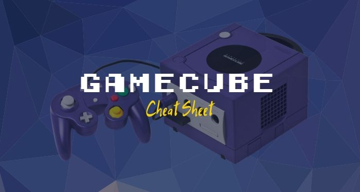 GameCube Cheat Sheet