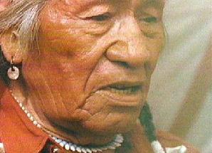Ältester der Blackfoot-Indianer-Indianer