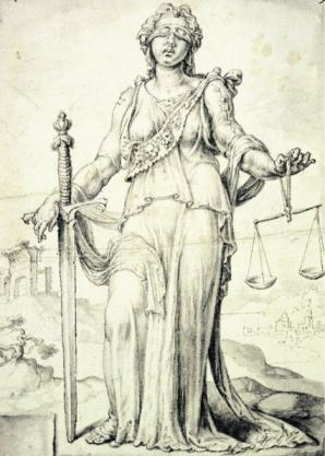 Die römische Justitia - Goldene Regel