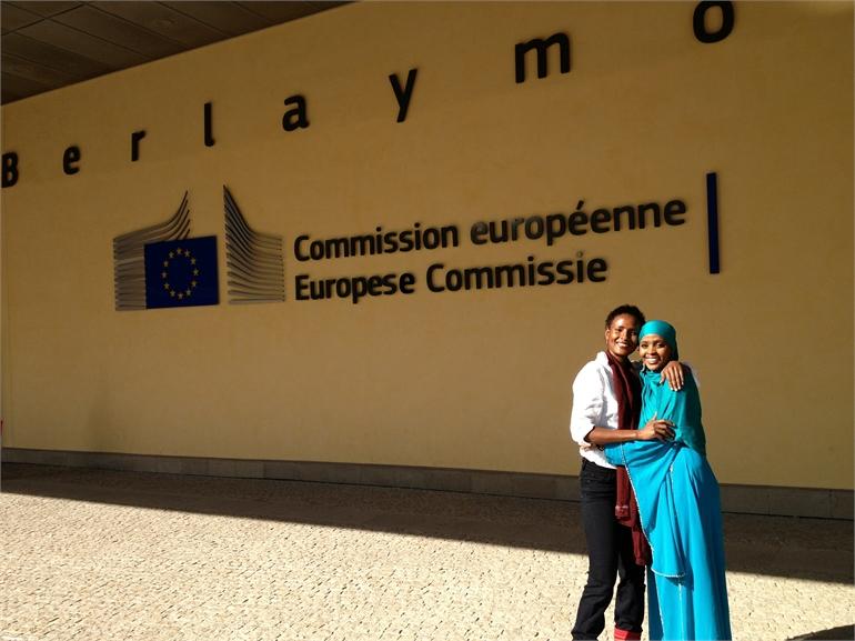 Waris und Ifrah bei der EU in Brüssel 2013
