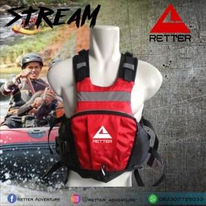life jacket pelampung retter Stream merah hitam