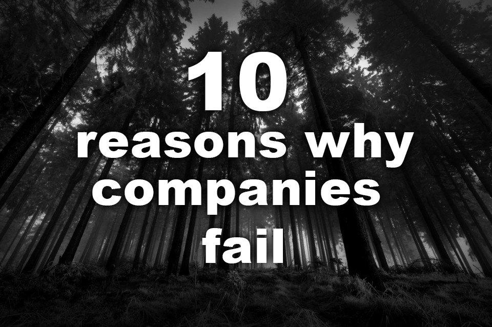 10 reasons why companies fail