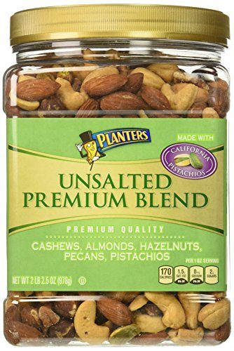 Planters Premium Blend Mixed Nuts Unsalted 345 Ounce