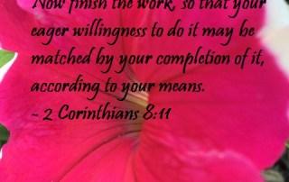 2 Corinthians 8:11