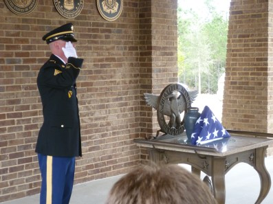 honoring the passing of a vet