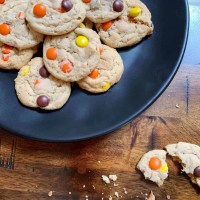 Peanut Butter Reese's Pieces Cookies