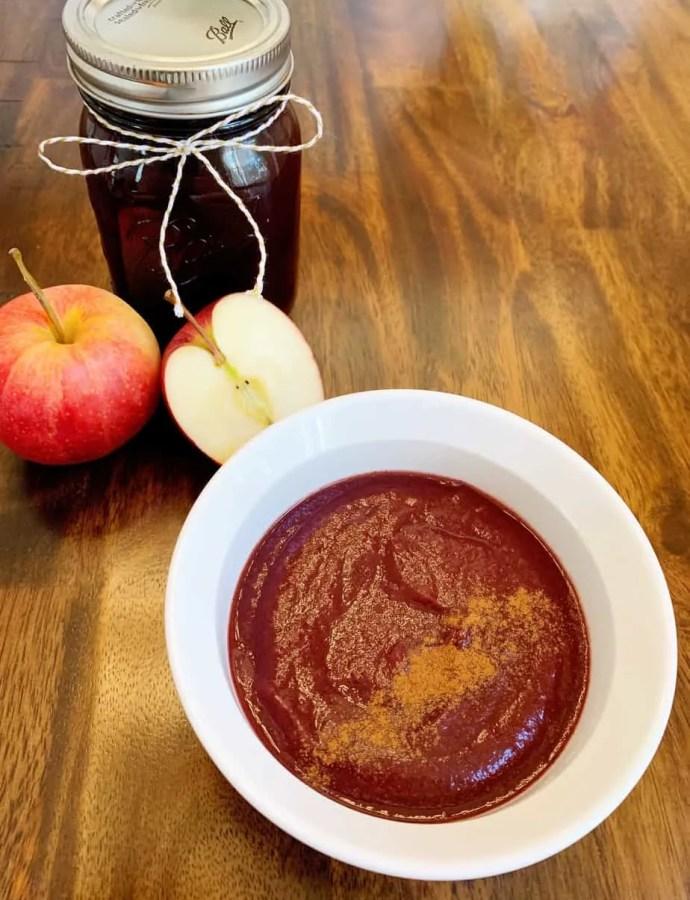 Crock Pot Blueberry Applesauce